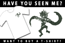 Have You Seen Me?  Space Monkey T-Shirt by the Industrial Arts Co-op